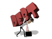 Man with Debt