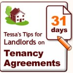 Tessa's 31 days of tips for landlords on tenancy agreements