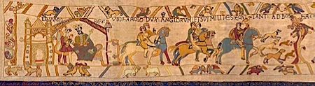 bayeux tapestry scene 1 - Edward the Confessor