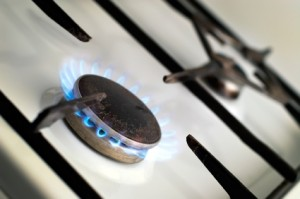 Gas cooker with a burning ring
