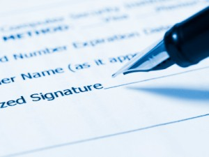 Witnessing a signature