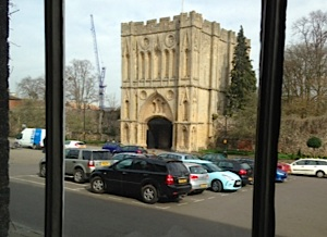 The view from the Angel Restaurant window