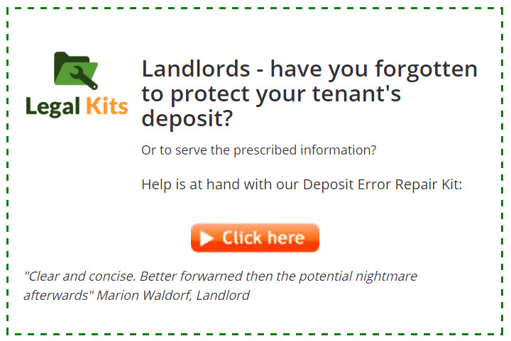 Tenancy Deposit Repair Kit