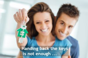 Handing back the keys is not enough ...